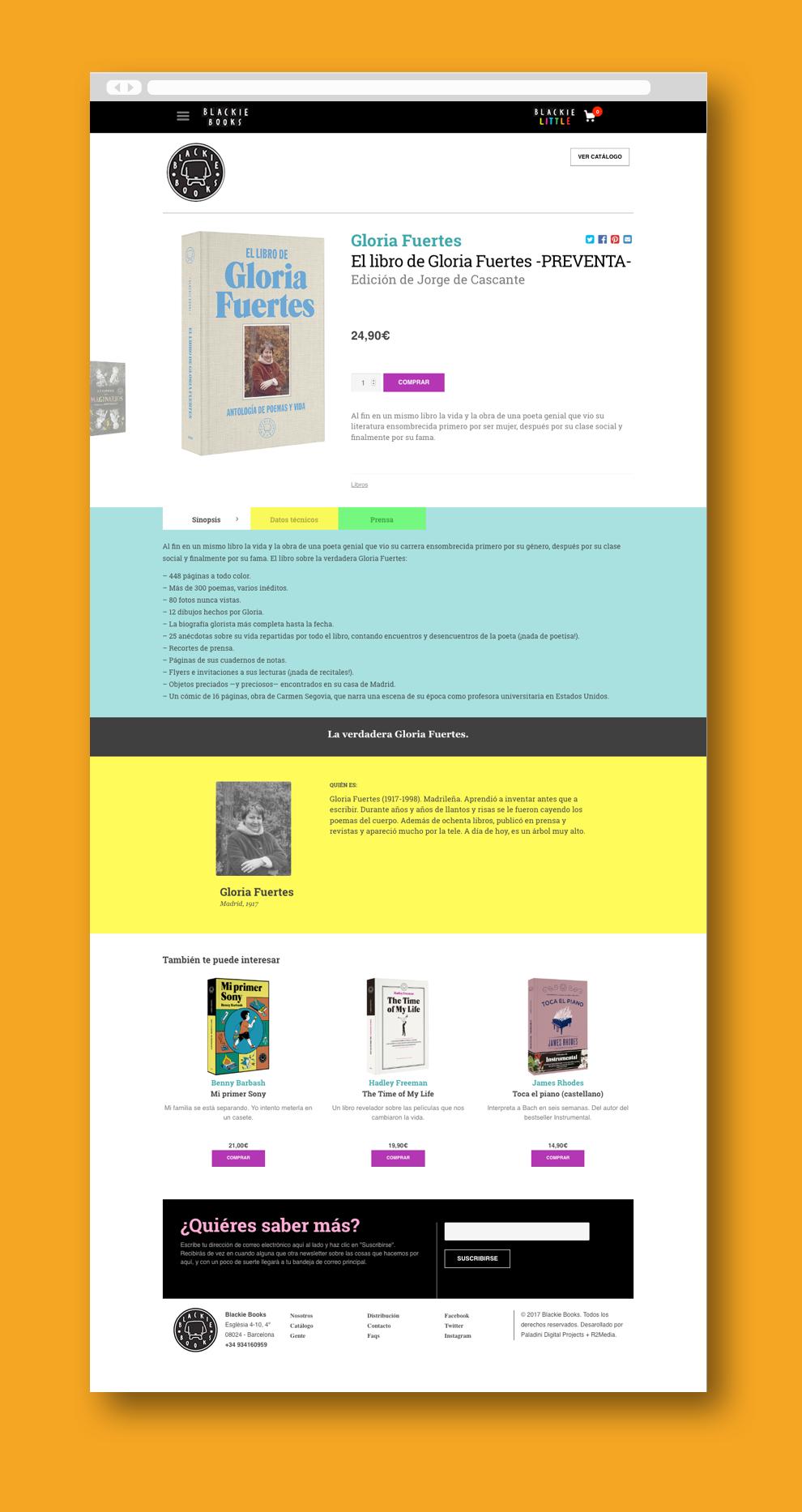 Blackie Books desktop