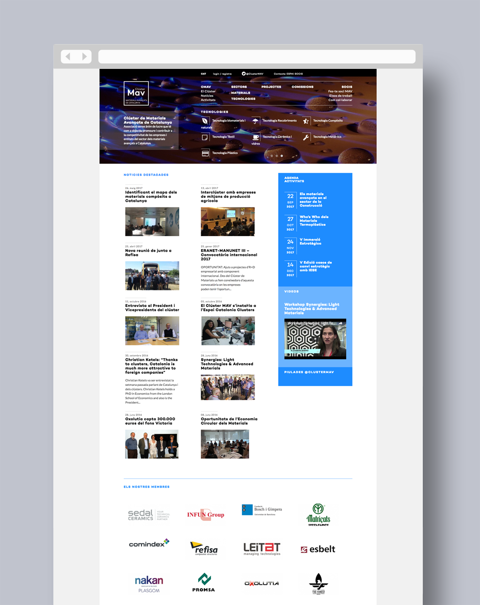 Home page for Advanced Materials Cluster Catalonia