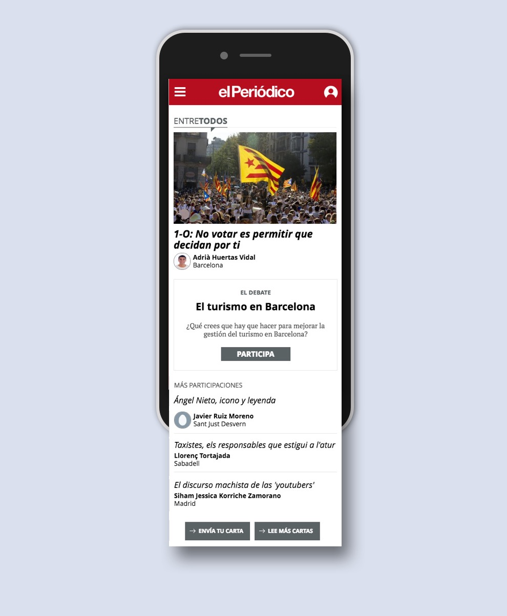 Mobile responsive website El Periodico