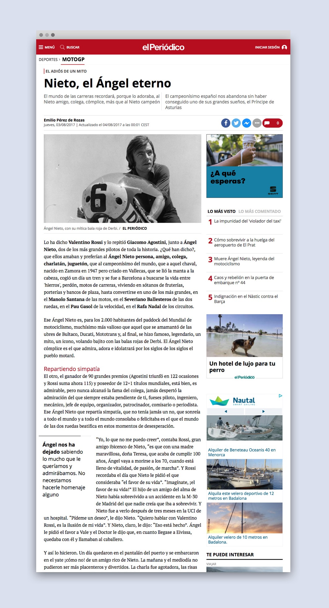 Article a la web d'El Periodico