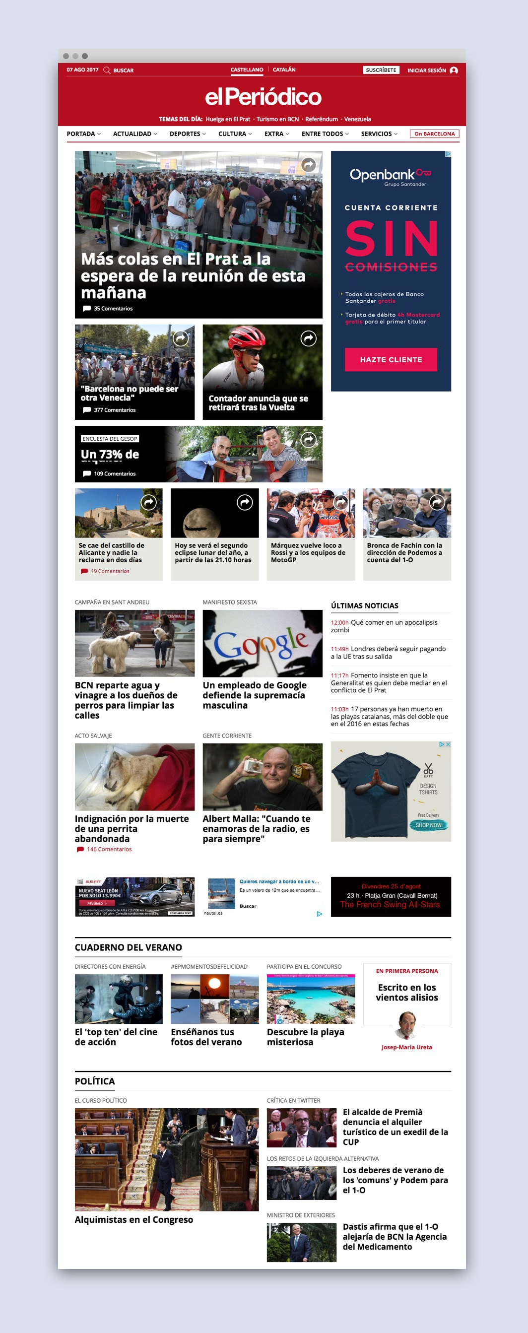 Home of new responsive layout for El Periodico