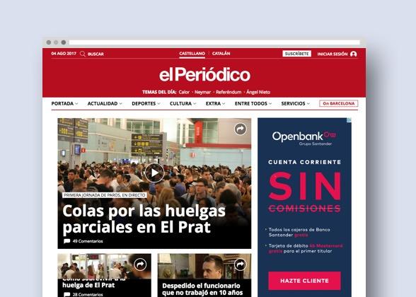 Responsive layout El Periodico de catalunya